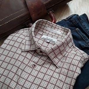 Faconnable Mens  Button Down Shirt Long Sleeve